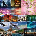 Full Drill 5D Diamond Painting Cross Crafts Stitch Home Art Decor DIY with Tools