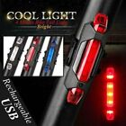 USB Rechargeable Bike LED Tail Light Bicycle Cycling Warning Rear Lamp GRTH
