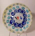 CHARMING Vintage MURANO 3 Millefiori Concentric Ring Paperweight Dated 1954