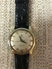 Vintage OMEGA seamaster leather belt automatic cal.501 mens wristwatch
