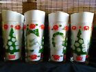 VINTAGE~MID~CENTURY MOD~SET OF 4~CHRISTMAS HIGHBALL~GLASSES~BAR~TREES~BELLS