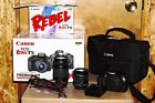 Canon EOS Rebel T5 Bundle w 18 55mm and 75 300mm Lenses + Accessories