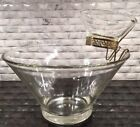VINTAGE ANCHOR HOCKING 3 PC CHIP AND DIP CLEAR GLASS SET