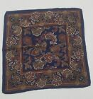 Vintage hand-rolled pocket square scarf handkerchief Floral Pattern