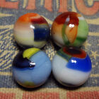 4 Marble King Rainbow Marbles NM+ group