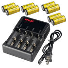 8pc 16340 CR123A 3.7v 1800Mah Rechargeable Lithium Li-Ion Battery 4-Slot Charger