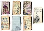 Alice in Wonderland phone case Bonkers quotes leather for Samsung A3 A6 A8 J5 S8