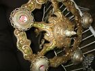 Antique Art Deco cast iron light fixture ceiling chandelier