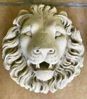French Limestone Hand Carved Lion Head Water Fountain 18
