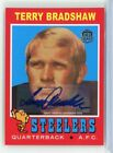 2015 Topps 60th Anniversary Retired TERRY BRADSHAW Autograph Steelers Auto