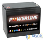 PL75-12 Powerline Mobility Batterie 12V 70Ah
