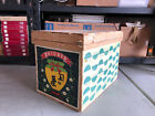 RARE LARGE 1950's JAPANESE TEA CRATE WOOD TIN LINED