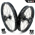 KKE 21/19 MX CASTING WHEELS SET FIT HONDA CRF250R 14-19 CRF450R 2013-2019 BLACK