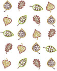 Fall Scroll Leaves Waterslide Water Transfer Nail Decals Nail Art