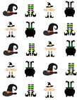 Witch Parts Halloween Waterslide Water Transfer Nail Decals Nail Art