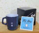 NIB !  Starbucks Japan Glass MUG / Fragment x Fireking / Navy