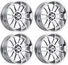 "4-New 20"" Hostile H107 Gaunlet Wheels 20x12 5x5/5x127 -44 Chrome Rims"