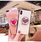 Love Heart Pop up Holder Stand Socket TPU Soft Case Cover For iP-hone X 8 8 Plus