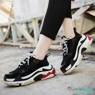 Womens Mens Real Leather Flat Trainer Lace Up Sneakers Casual Atheltic Shoes