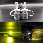 H4 9003 3000K Yellow 8000LM High Power Motorcycle LED Headlight Bulbs Hi/Lo Beam