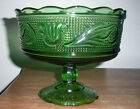 VTG 1950s Green Glass Footed Bowl E. O. BRODY CO., M6000 Cleveland USA 5.25