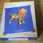 Hallmark Christmas Ornament  Majestic Lion Carousel Ride  2004
