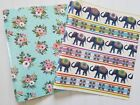 Pretty Elephants or Pink Floral 1 Flexible Plastic 3 Ring Binder Your Choice