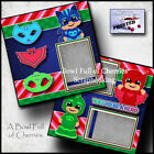 DISNEY PJ MASKS 2 premade scrapbook pages paper piecing layout BY CHERRY 0006