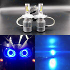 NEW H4 9003 8000K Ice Blue 8000LM Motorcycle LED Headlight Bulbs High Low Beam