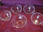Lot 5 Vtg Anchor Hocking Clear Glass Sheaves of Wheat Berry Bowl Tea Cups