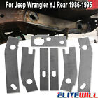 7Pcs Frame Repair Rusted Shackle Weld Plates for 86-95 Jeep Wrangler YJ Rear New