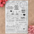 PIZZA LOVE YOU Hello Heart Scrapbook DIY photocard clear stamp transparent stamp