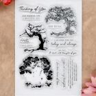 Thinking of you Tree Hello Scrapbook DIY photocard clear stamp transparent stamp