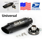 1X Stainless Steel Black 51mm Inlet Modified Motorcycle Exhaust Muffler Pipe Tip