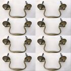8 heavy bale pulls handle antique solid brass vintage 4