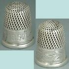 Early Antique Sterling Silver Thimble * American * Dated 1857