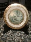 Vintage Florentine Wood Wall Plaque, Italy , 6 1/2 inches Diameter, Excellent