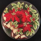 Peggy Karr 16 Fused Glass Poinsettia Platter signed