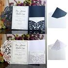 10PCS Laser Cut Wedding Invitation Card Lace Business Party Invitation Cards