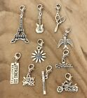 Dangle Clip for Origami Owl Glass Floating Charm New York Cowgirl Eiffel Tower