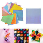 50pcs set Origami Pearlescent Paper Folding Solid Color Papers Kids Handmade A