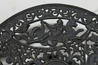 Antique Ornate Cast Iron Footed Dish Bowl Rococo Greek Gods Mythological figures