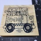 Whipper Snapper Designs Rubber Stamp School Bus Large