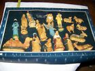 18 piece Vintage Nativity Set Unbranded No Name Hand Decorated