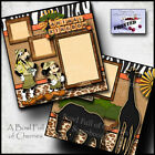 Disney Animal Kingdom 2 premade scrapbook pages layout paper piecing Cherry 0009