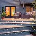 Kit of 10 WARM WHITE Patio, Decks, Path, Stair LED Lighs, with Day/Night Sensor