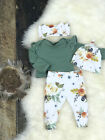 US Stock Newborn Baby Girls Tops Romper Floral Pants Outfits Set Clothes 0 24M