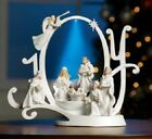 Christmas Figurines Small Light Up Musical JOY Nativity Scene Religious Decor
