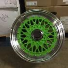 15 RS STYLE WHEELS RIMS GREEN FITS TOYOTA ECHO PRIUS C MR2