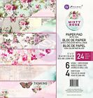 Prima Marketing Double Sided Paper Pad 12X12 24 Pkg Misty Rose 6 Foiled Desig